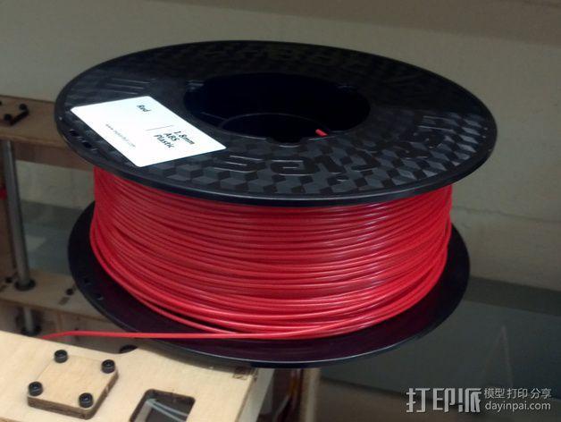 水平材料轴夹 3D模型  图2