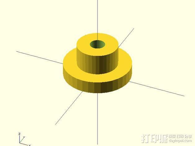 水平材料轴夹 3D模型  图3