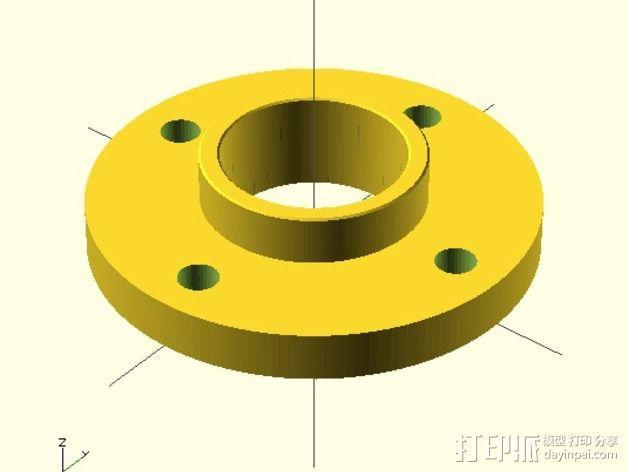水平材料轴夹 3D模型  图5