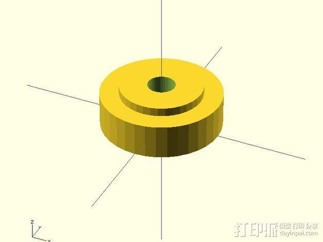 水平材料轴夹 3D模型  图6