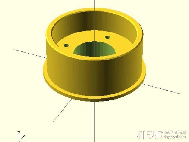 水平材料轴夹 3D模型  图4