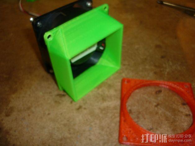 参数风机管 3D模型  图1