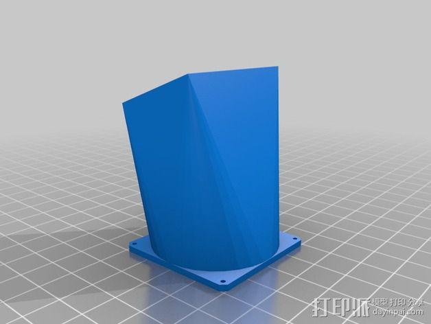 参数风机管 3D模型  图3