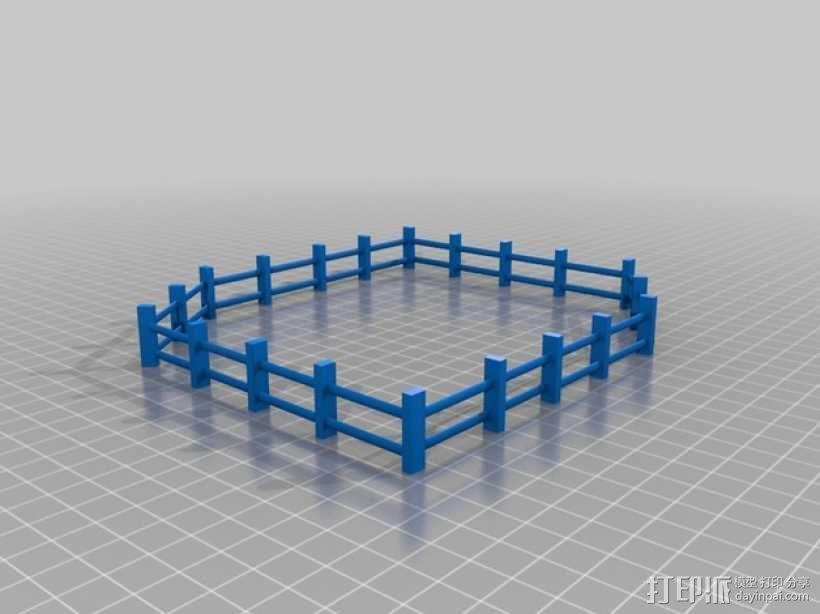 围栏 3D模型  图1