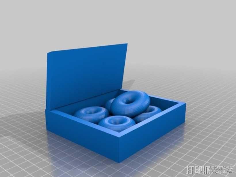 甜甜圈框摆件 3D模型  图1