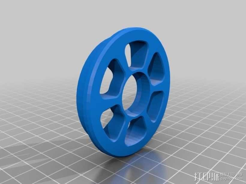 BPS线轴支架 3D模型  图3