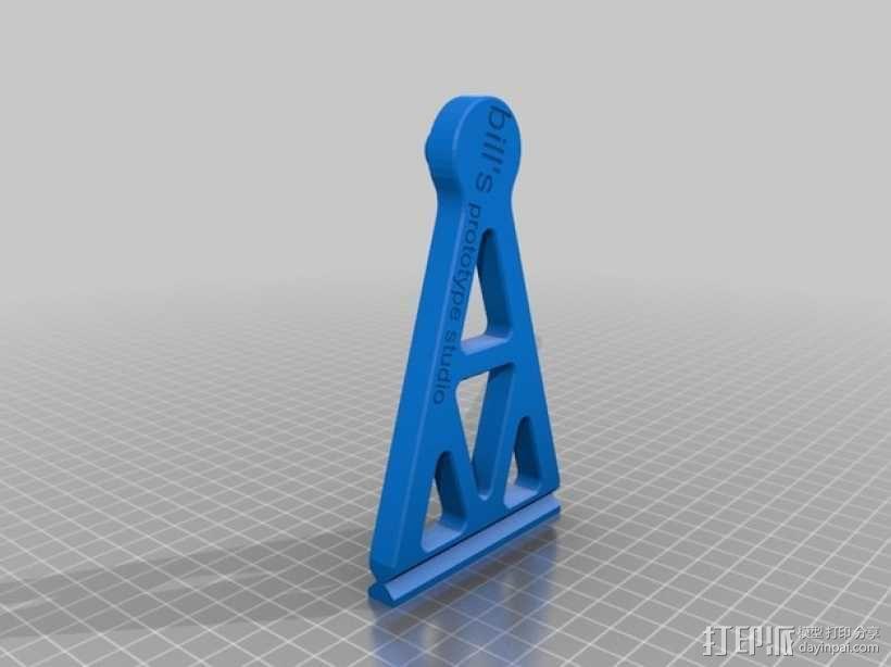 BPS线轴支架 3D模型  图4