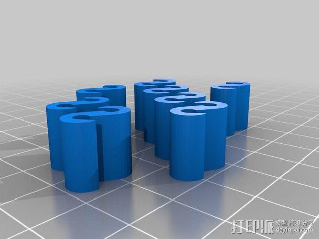 修改过后的灯丝夹 3D模型  图1
