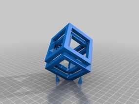 空心立方体摆件 3D模型