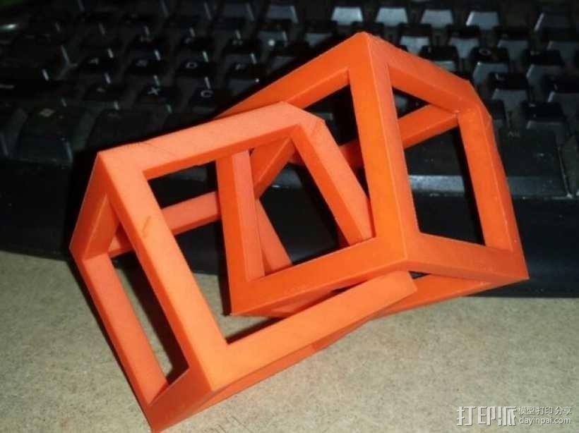 空心立方体摆件 3D模型  图4