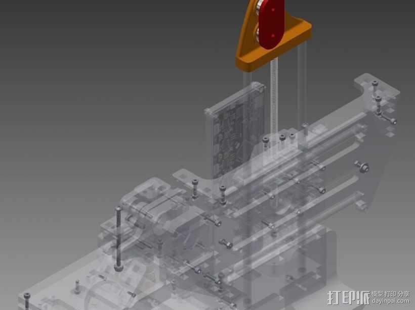 Z轴固定器 3D模型  图1