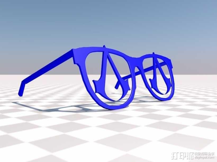 眼镜  3D模型  图1