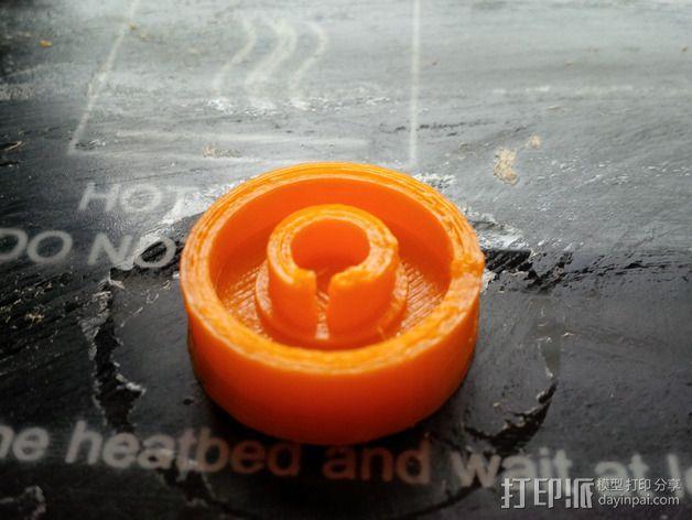LCD旋钮 3D模型  图1