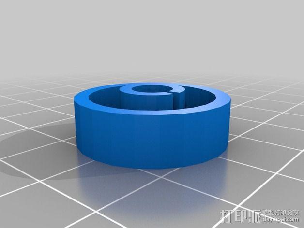 LCD旋钮 3D模型  图2