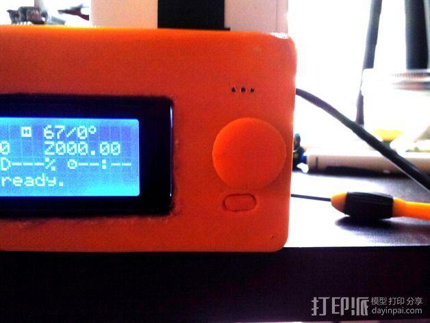LCD旋钮 3D模型  图5