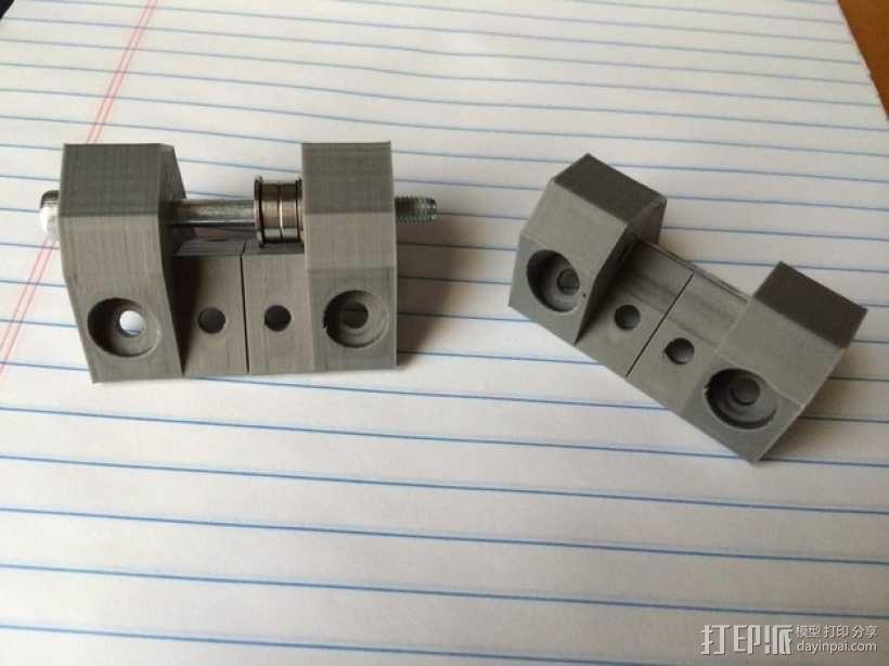 电动机支架 3D模型  图1