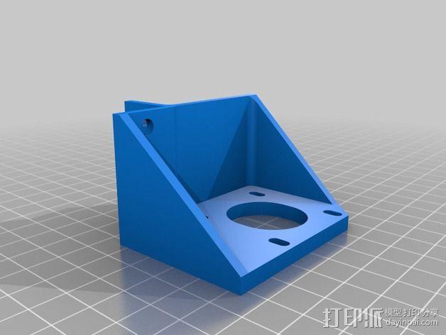 电动机支架 3D模型  图3