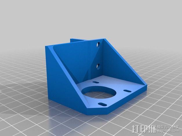 电动机支架 3D模型  图2