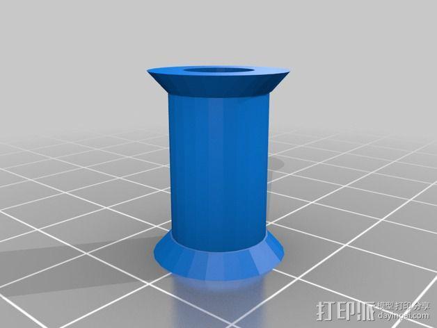 灯丝轴架 3D模型  图2