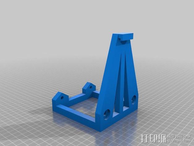 灯丝轴架 3D模型  图3