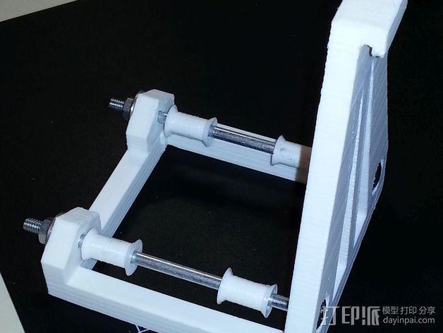 灯丝轴架 3D模型  图4