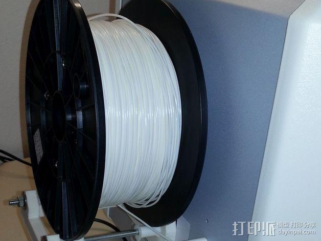灯丝轴架 3D模型  图5