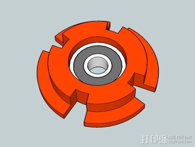 拖动线轴                3D模型  图2