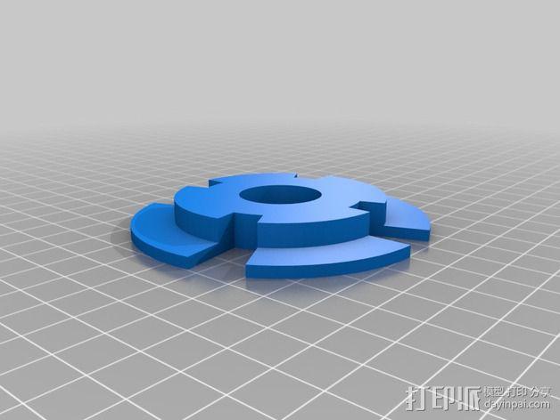 拖动线轴                3D模型  图4