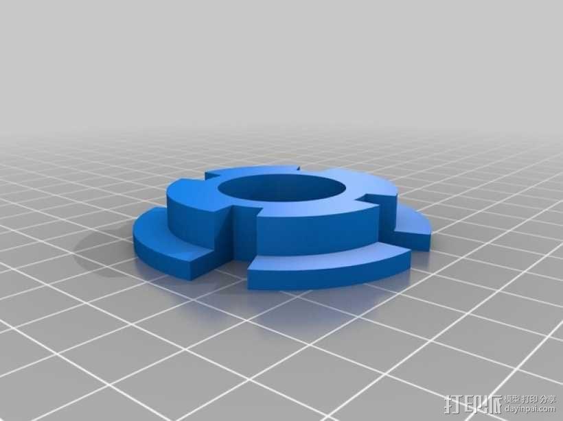 拖动线轴                3D模型  图5