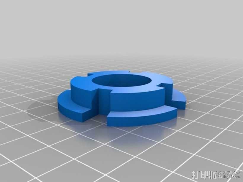 拖动线轴                3D模型  图6