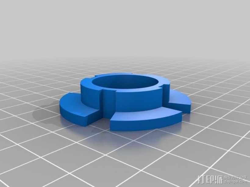 拖动线轴                3D模型  图7