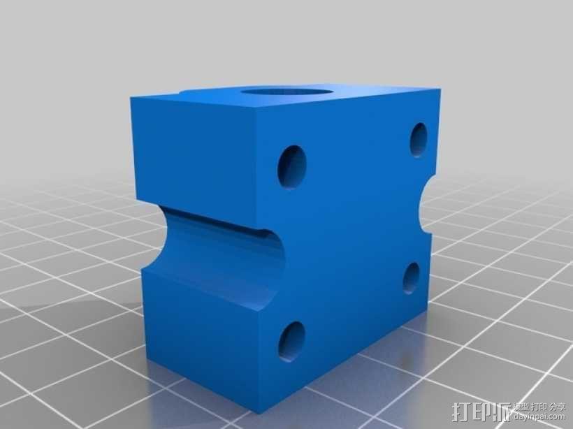SC8UU滚珠轴承滑块 3D模型  图3