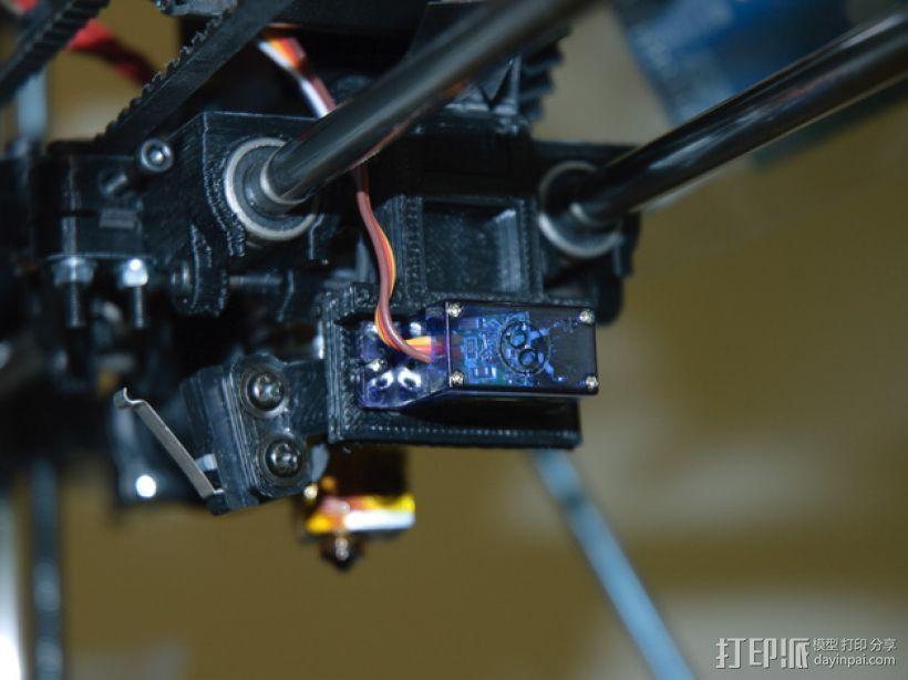 自动调平器探针的马达支架 3D模型  图1
