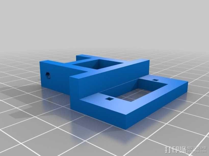 自动调平器探针的马达支架 3D模型  图2