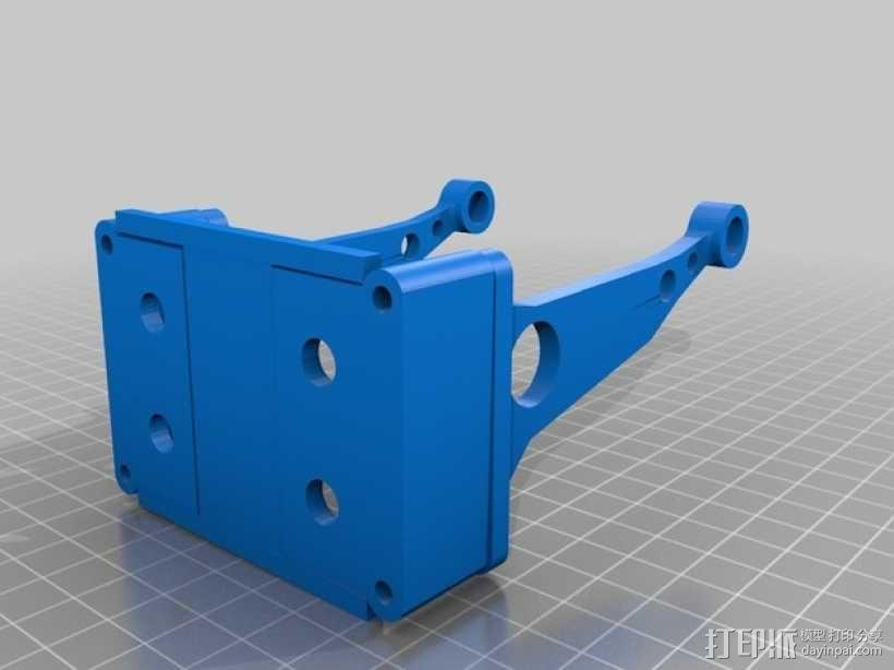 PrintrBot Simple打印机的线轴支撑器 3D模型  图1