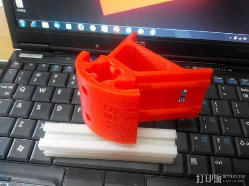Kossel K-20打印机的部件 框架固定器 3D模型  图1