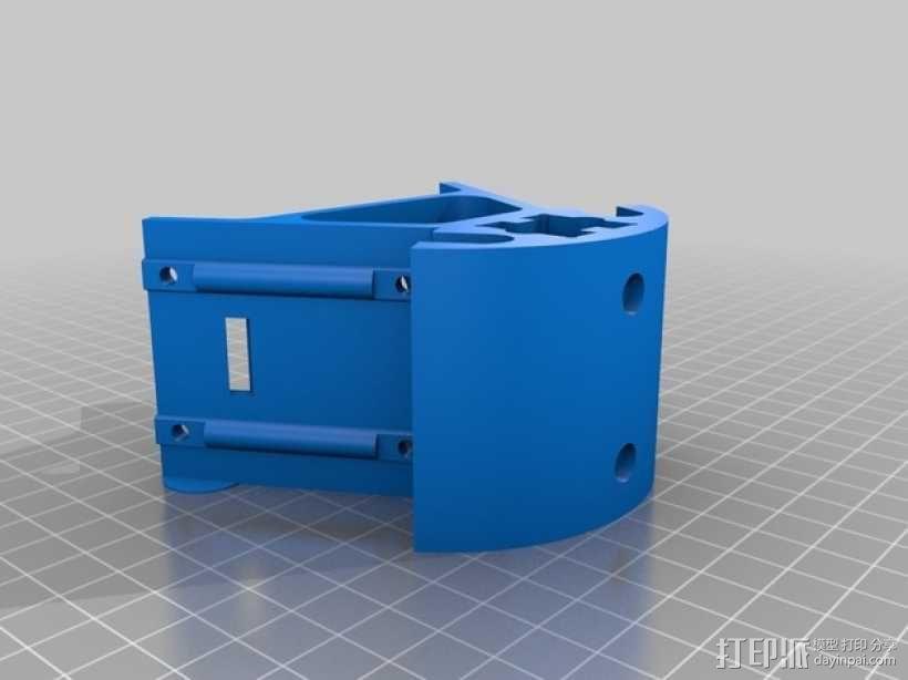 Kossel K-20打印机的部件 框架固定器 3D模型  图3
