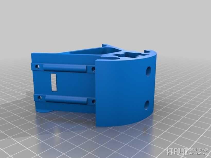 Kossel K-20打印机的部件 框架固定器 3D模型  图2