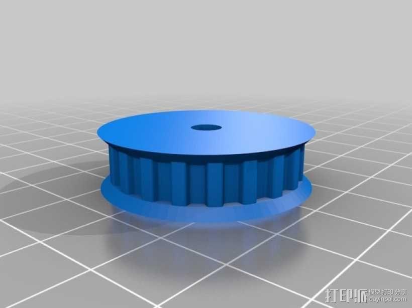 GT2滑轮 3D模型  图1