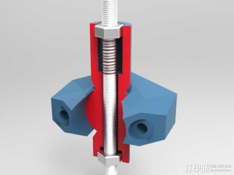 K8200打印机上的万向节螺杆固定器 3D模型  图1
