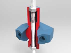 K8200打印机上的万向节螺杆固定器 3D模型