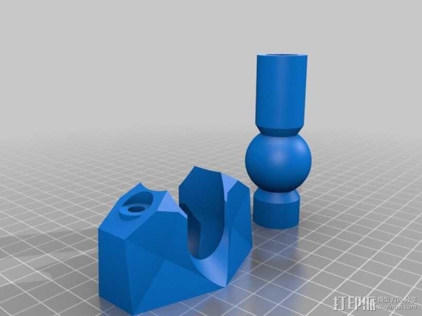 K8200打印机上的万向节螺杆固定器 3D模型  图2