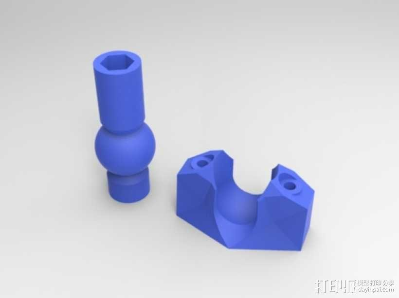 K8200打印机上的万向节螺杆固定器 3D模型  图3