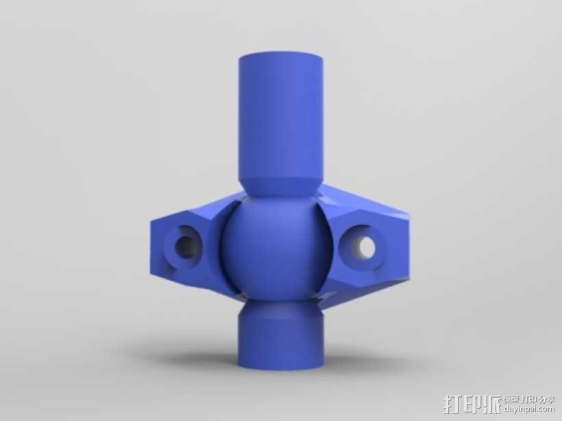 K8200打印机上的万向节螺杆固定器 3D模型  图4
