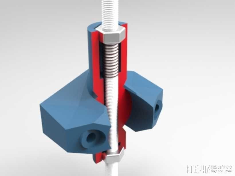 K8200打印机上的万向节螺杆固定器 3D模型  图5