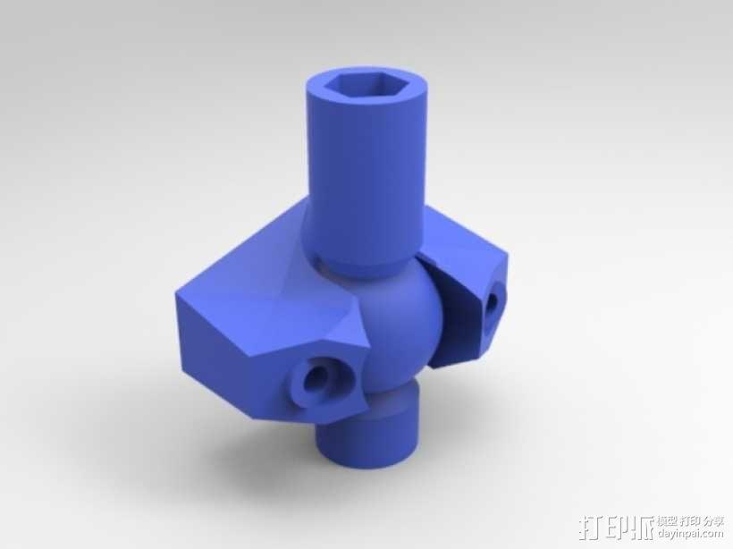 K8200打印机上的万向节螺杆固定器 3D模型  图6