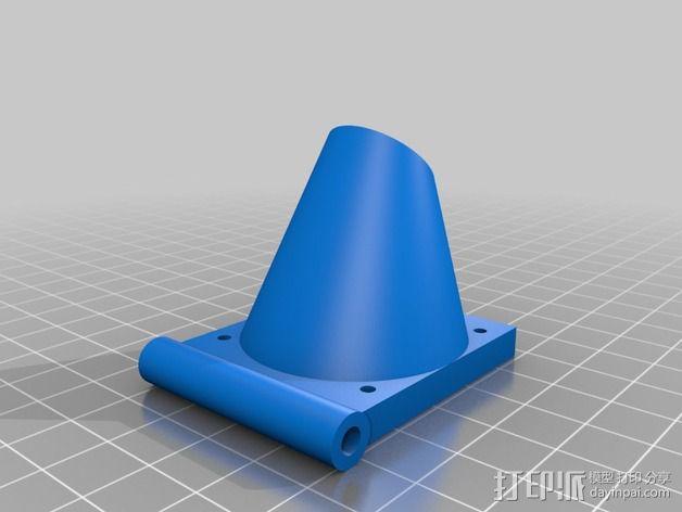 风扇支架 通风导管 3D模型  图3