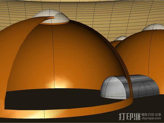 可延展的火星基地 3D模型  图8