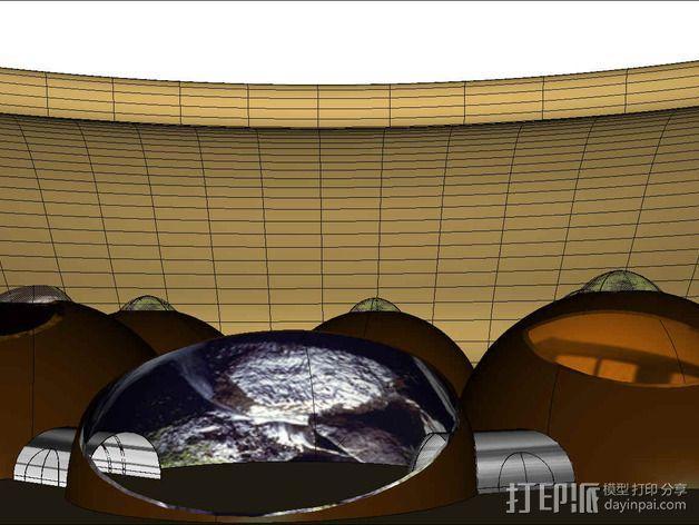 可延展的火星基地 3D模型  图11