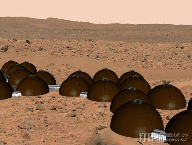 可延展的火星基地 3D模型  图14